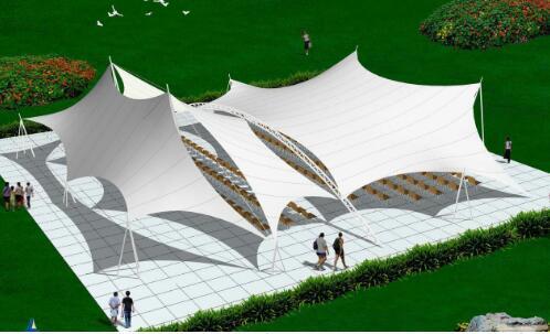 重庆膜布钢结构制作、安装、销售—景观棚系列