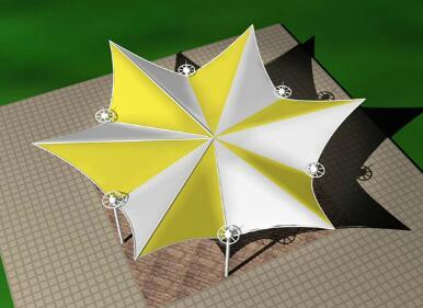 重庆膜布钢结构安装—遮阳棚系列