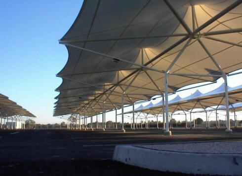 重庆膜布钢结构制作—遮阳棚系列